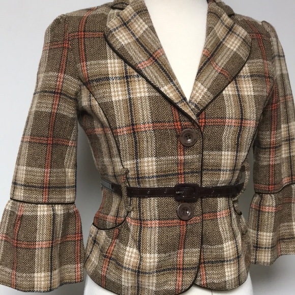 Authentic Original Vintage Style Jackets & Blazers - Victorian Inspired Tweed Blazer